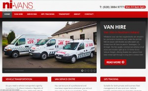 NI Vans New Website